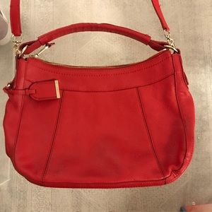 Cole Haan red leather Satchel Bag